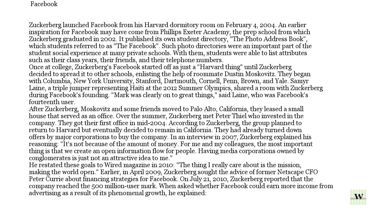 Mark Zuckerberg Wikipedia Podcast  Mark Zuckerberg Resume