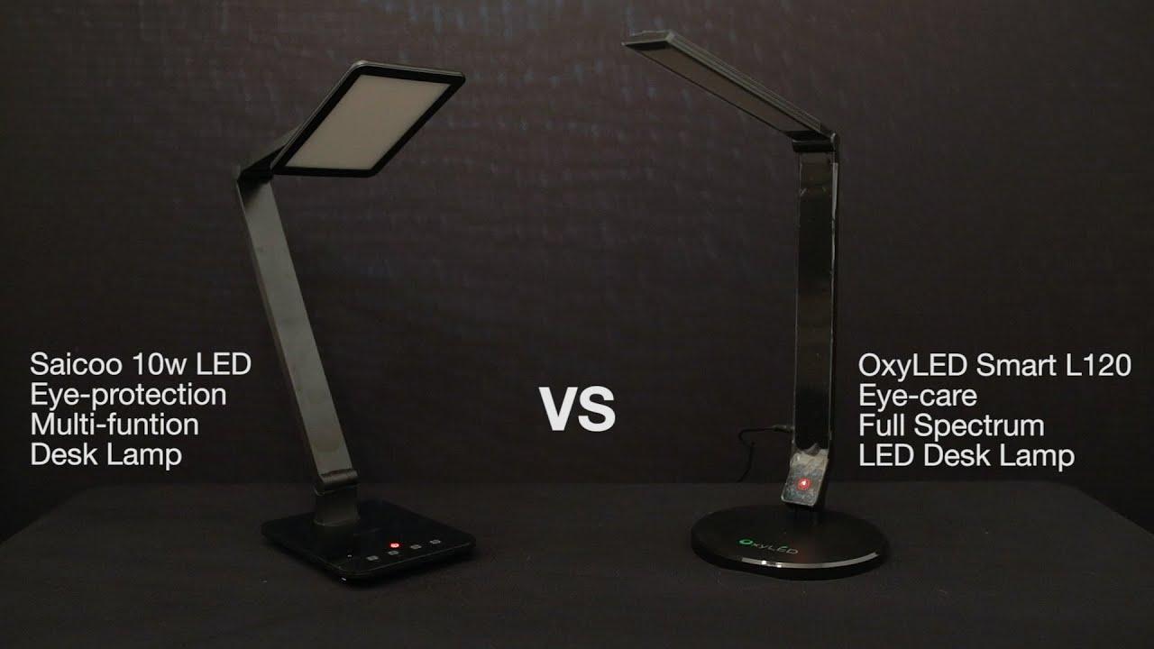 Best LED Desk Lamp Comparison Review OxyLED L120 VS Saicoo 10W Desk Lamp    YouTube