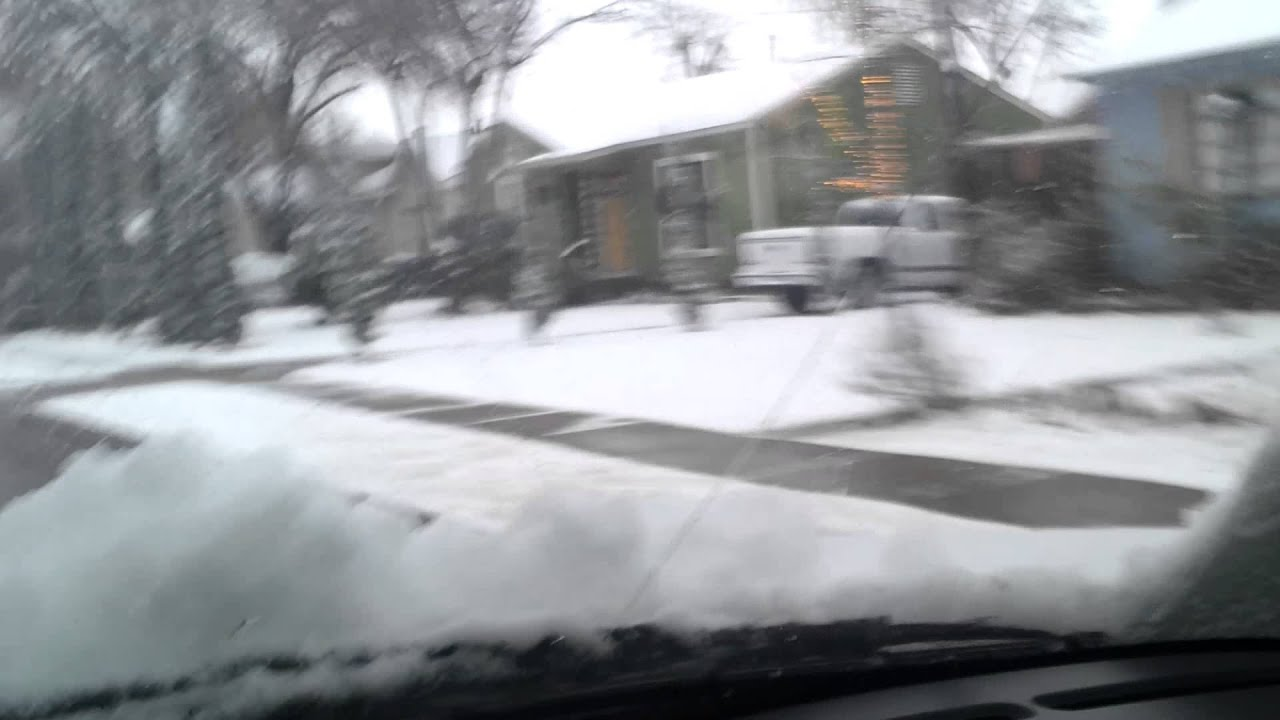 Cae La Nieve En Dallas Texas Youtube