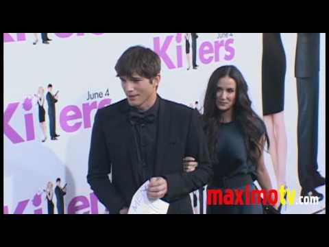 "Demi Moore and Ashton Kutcher Arriving at ""KILLERS"" Premiere"