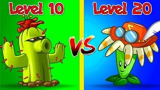 Plants vs Zombies 2 Compare Cactus Lvl 10 vs Bloomerang Lvl 20 - Who is The Winner? Max Levels