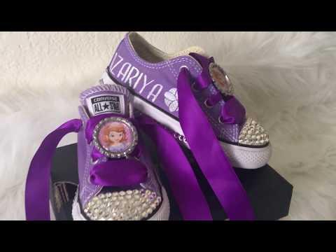 b9487eaf1dbf Princess Sofia Bling Converse - Sofia the First Bling Shoes ...