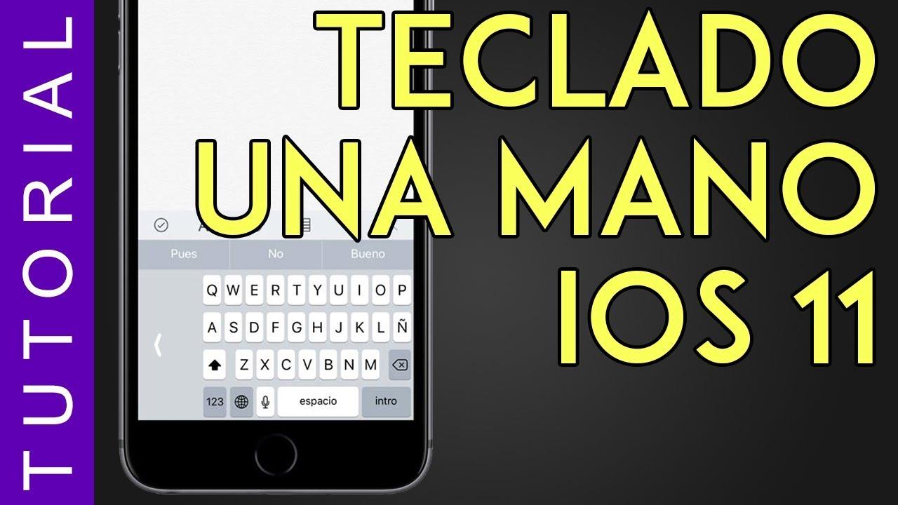87440530c84 Teclado de una mano iPhone - YouTube