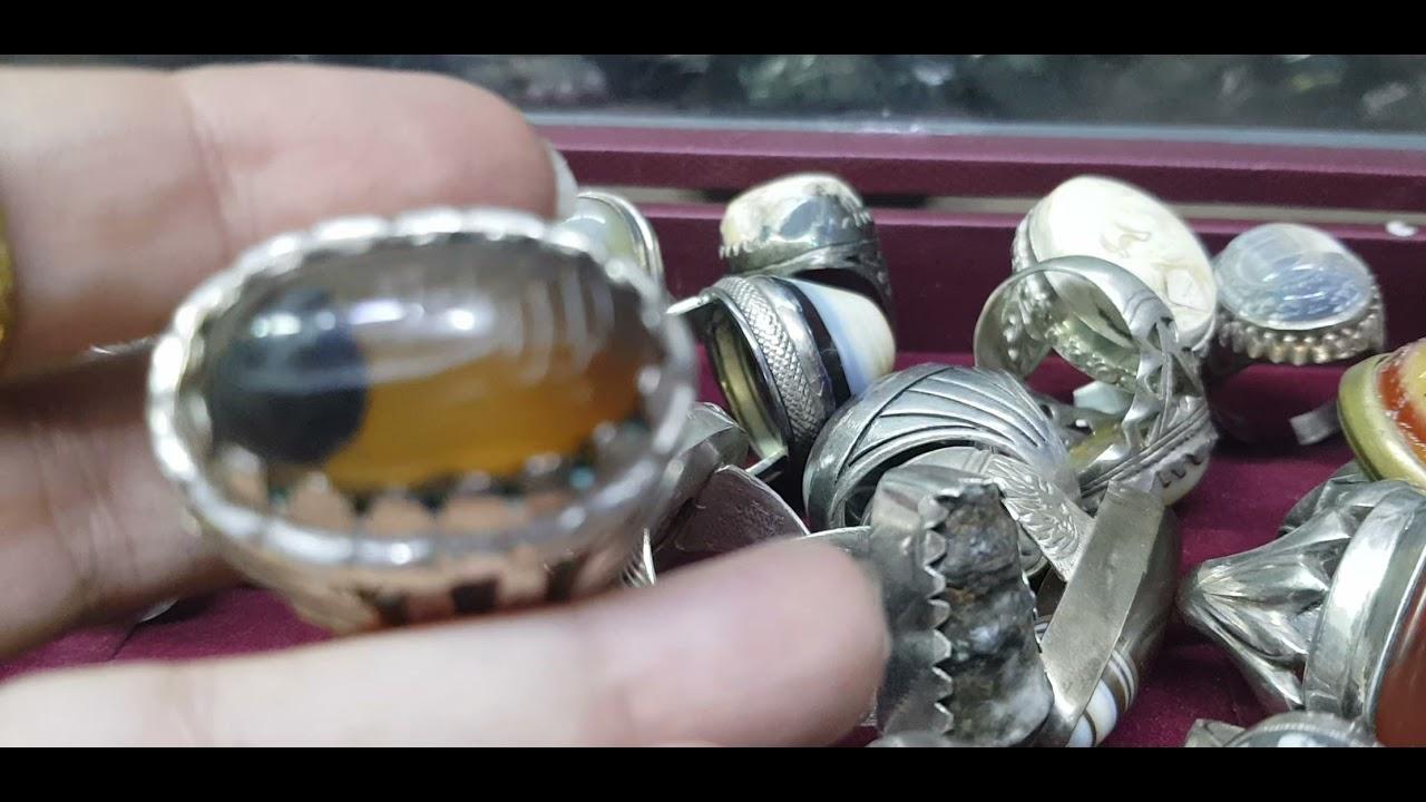 خاتم يماني انسي الهاني عسلي ١٥٠ دولار للبركة