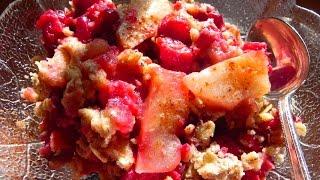 How to Make Cranberry Apple Crisp