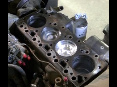 "Versatile 276 3.9 Cummins 4BTA ""Installing Pistons, Rods, Oil Pan and Oil Cooler"""