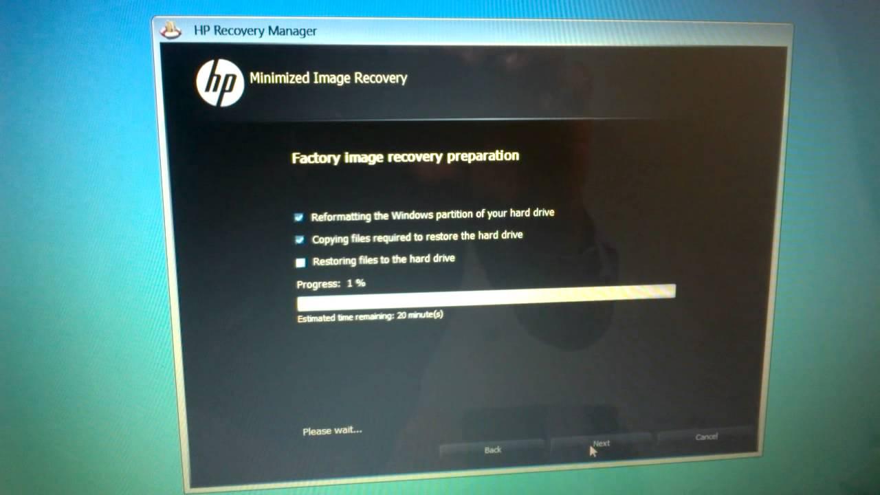 Windows 8 Format HP Laptop Using Recovery Media USB Flash Drive 1/10