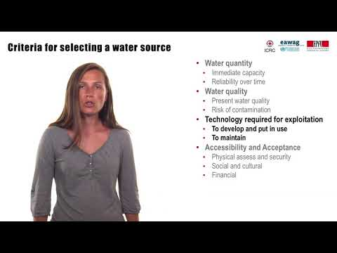 3.2 Water source selection