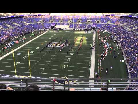 Baltimore Ravens marching band 8-13-15