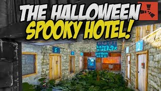 Visiting a Spooky Halloween Hotel! - Rust Solo Survival Gameplay
