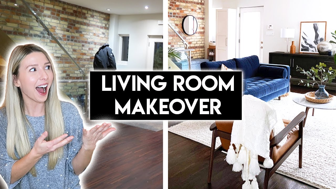 LIVING ROOM + ENTRYWAY MAKEOVER | MID CENTURY MODERN TRANSFORMATION
