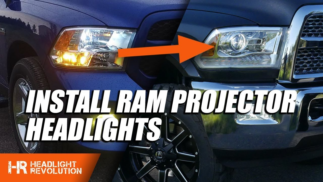 change out ram reflector headlights to projector headlights with this harness  [ 1280 x 720 Pixel ]