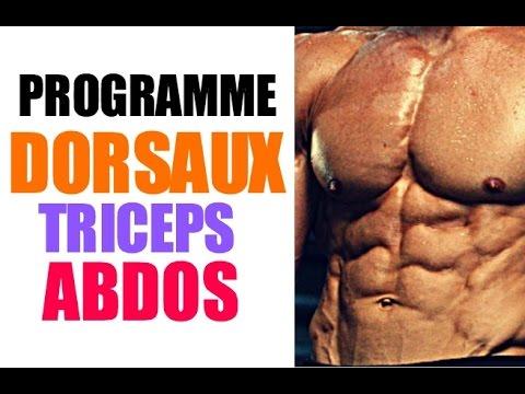programme musculation triceps dorsaux abdos youtube. Black Bedroom Furniture Sets. Home Design Ideas