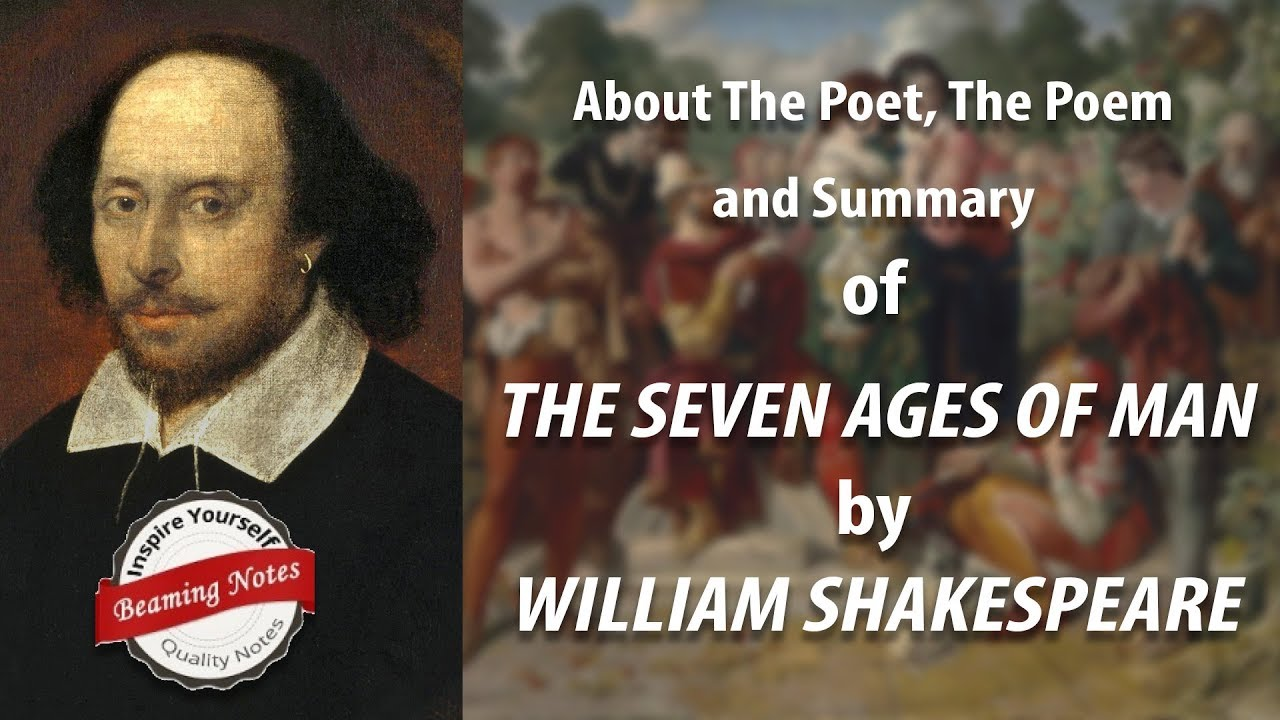 Summary And Analysi Of The Seven Age Man By William Shakespeare Beaming Notes All World A Stage Paraphrase