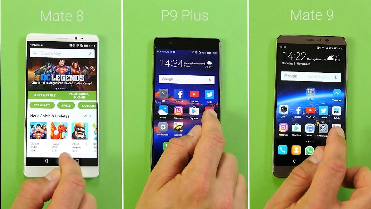 Benchmark: Huawei Mate 9 vs. Huawei P9 Plus vs. Huawei ...
