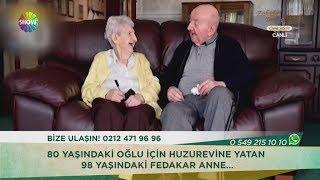 80 yaşındaki oğlu için Huzurevine yatan 98 yaşındaki fedakar anne...