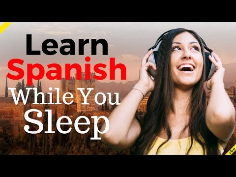 Learn Spanish While You Sleep 😀 180 Basic Spanish Phrases and Words 😀 English/Spanish (8 Hours)