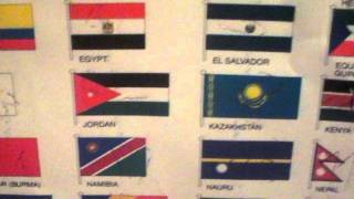 Countries song with flags