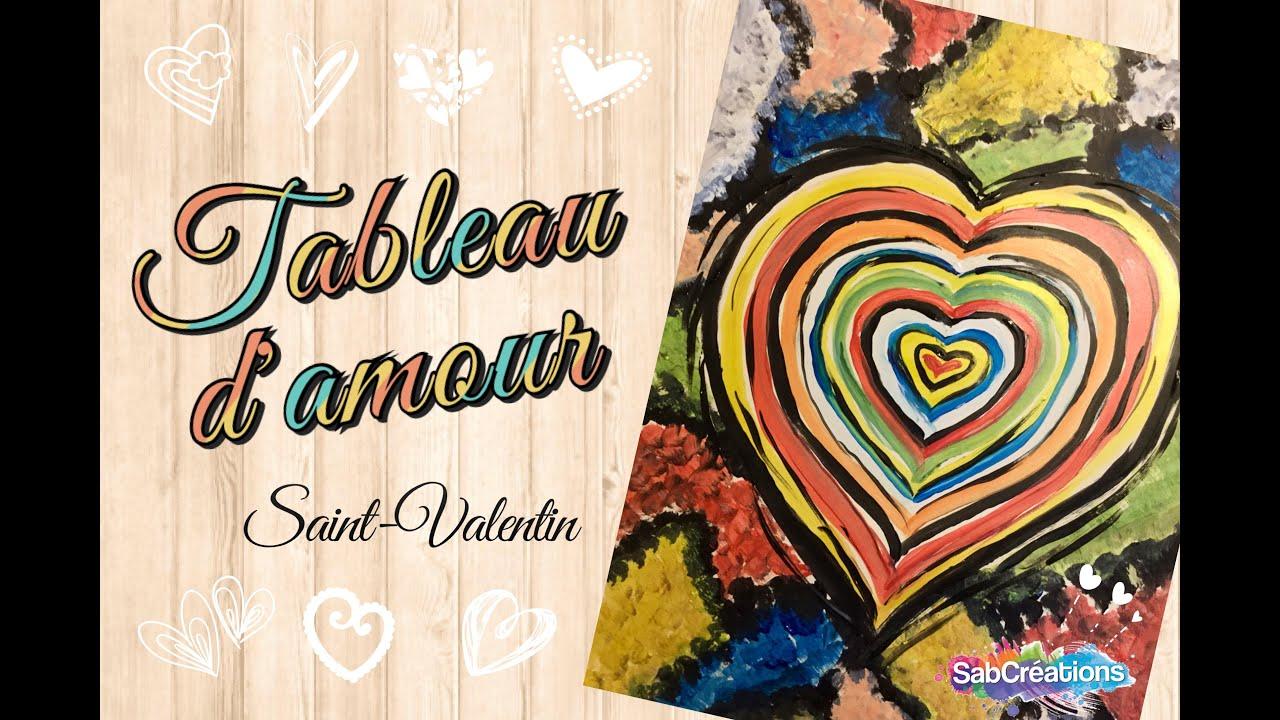 Tableau d 39 amour saint valentin atelier peinture enfant sabcreations youtube for Peindre sur la rouille