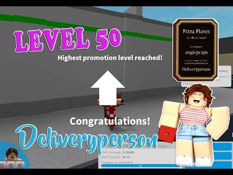 ROBLOX │Bloxburg - Level | Promo 50 Deliveryperson