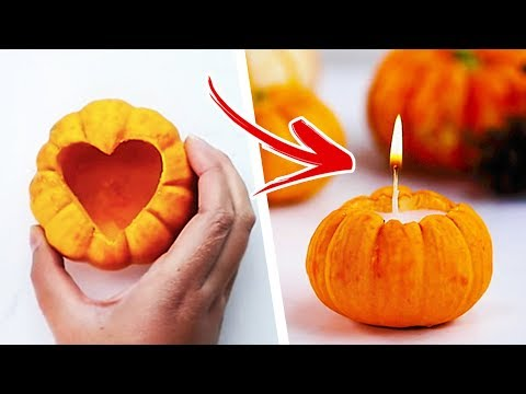 7 Awesome Fall Craft Ideas | DIY Fall Candles | Autumn Crafts For Kids | Craft Factory