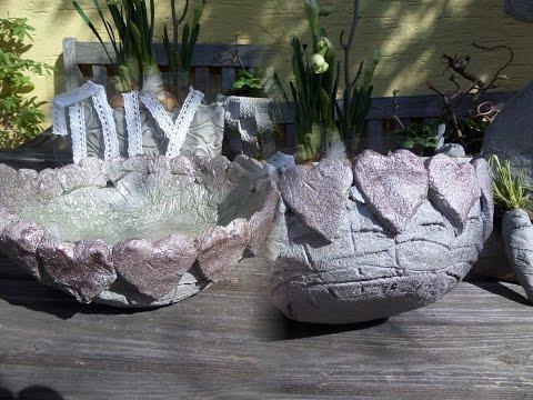 DIY: BETON HERZ-Schale SELBER MACHEN; leicht gemacht, für 1,50€ How-to