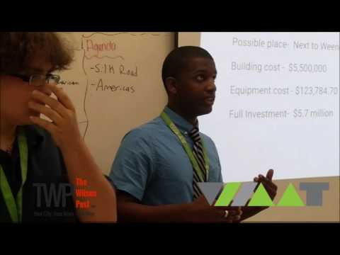 Wilson Academy of Applied Technology Students pitch their Mfg facility ides Shark Tank Style