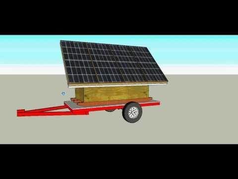 Portable Solar Power Trailer