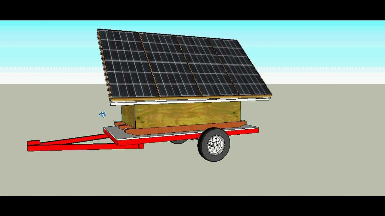 Portable Solar Power Trailer Youtube