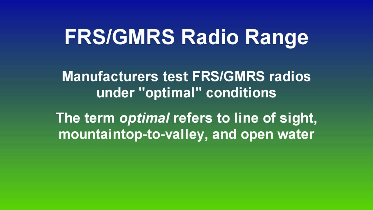 The Truth About FRS / GMRS Two Way Radio Range | Radio 101