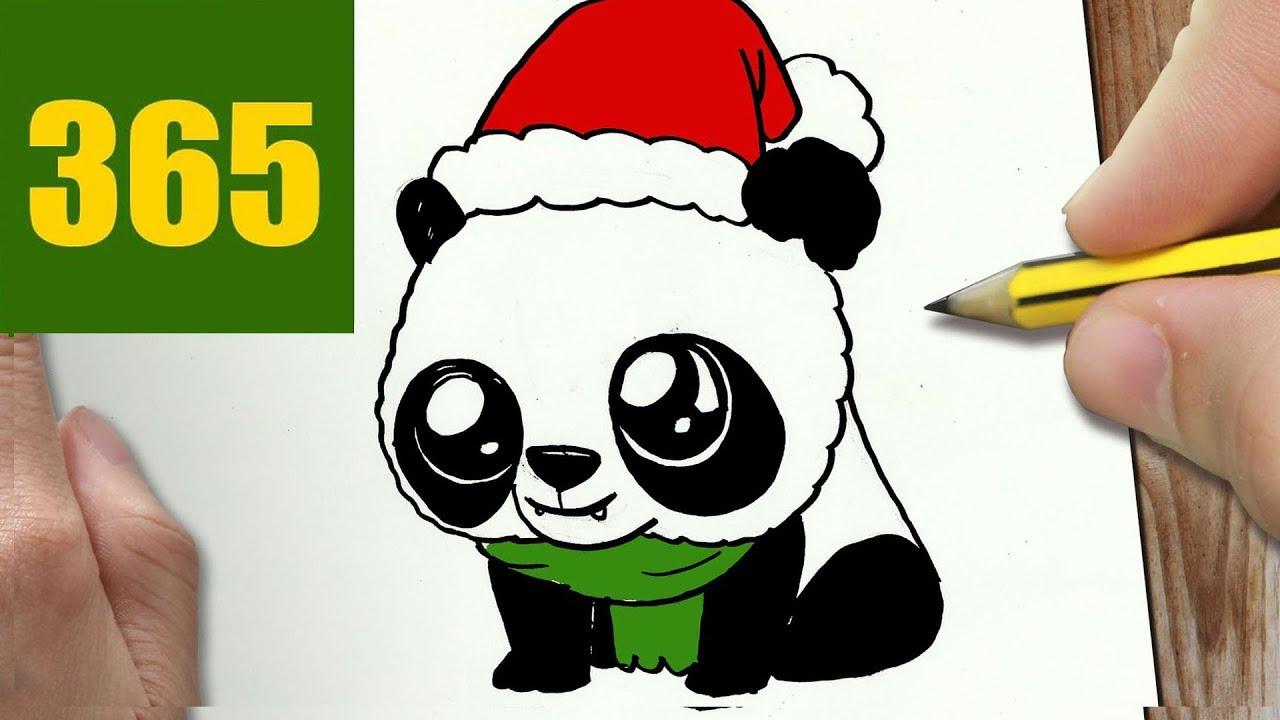 Come Disegnare Panda Di Natale Kawaii Passo Dopo Passo Disegni