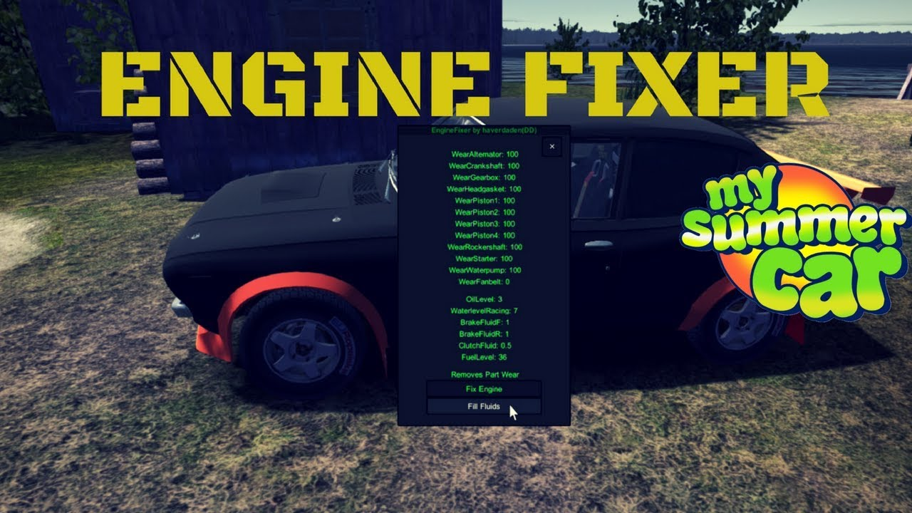 Engine Fixer Fix Your Engine Fast My Summer Car 34 Mod Youtube