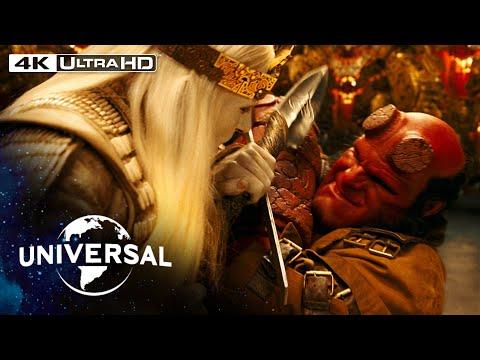 Hellboy II: The Golden Army   Hellboy vs. Prince Nuada in 4K HDR