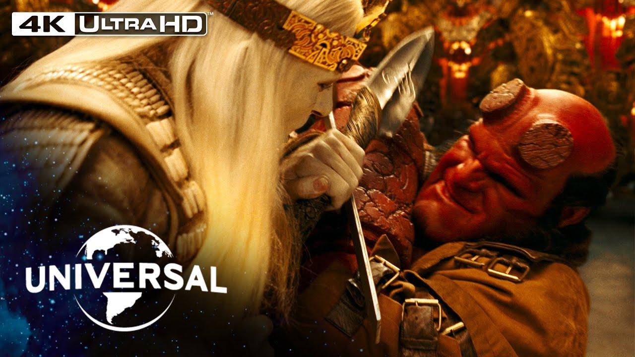 Download Hellboy II: The Golden Army   Hellboy vs. Prince Nuada in 4K HDR