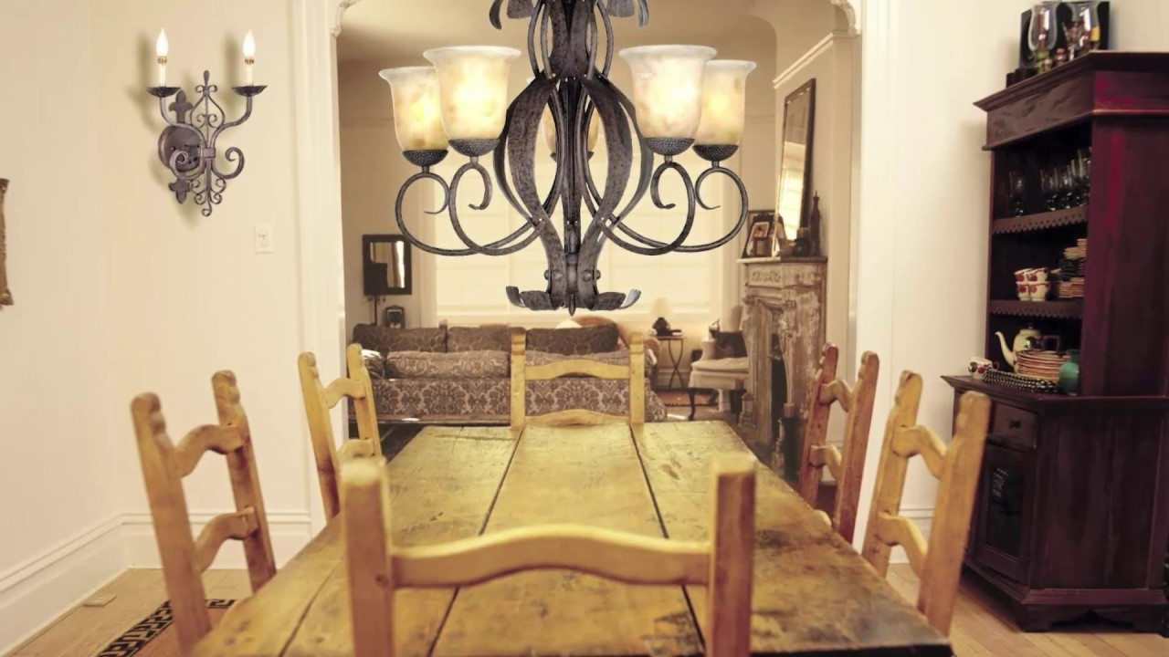 Hanging Chandeliers Over Dining Tables - YouTube