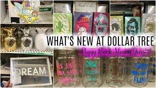 DOLLAR TREE | WHAT'S NEW !! | PIGGY BANK MASON JARS, CACTUS WALL DECOR &  PINEAPPLES!