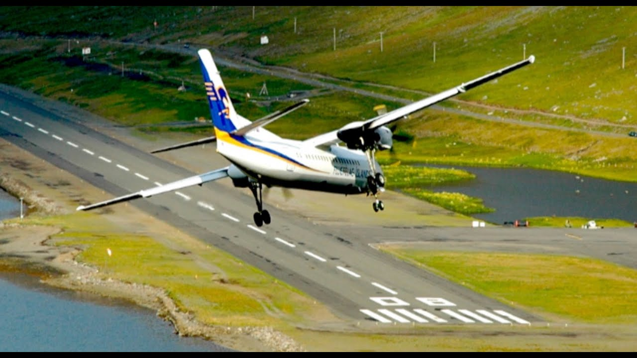 Extreme Airport Approach In Iceland HD YouTube - Airports in iceland