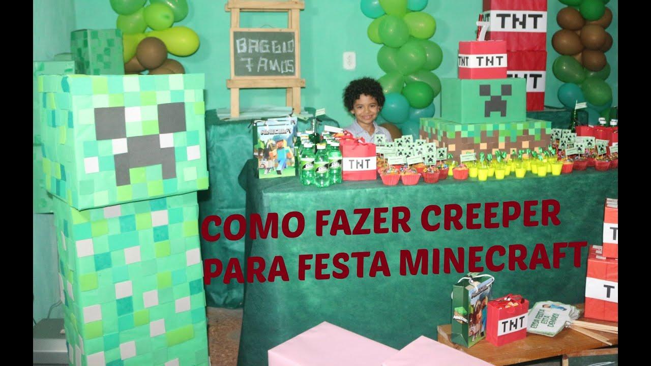 Festa Minecraft tudo verde