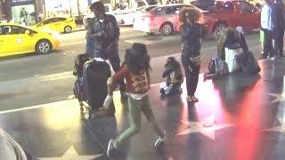 Un paseo por la calle Hollywood, donde estan las estrellas por la c...