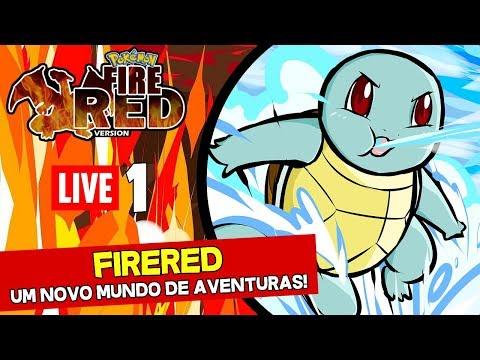 Pokémon FireRed Ao vivo 1. A jornada começa!