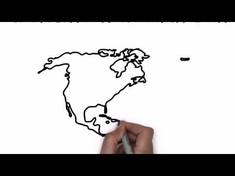 America Map Drawing.How To Draw Map Of North America Youtube
