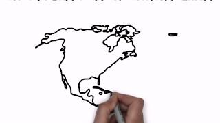 How To Draw Map Of North America