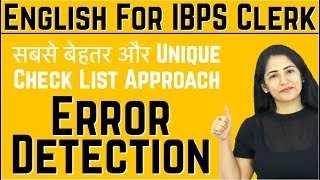 Easy Trick to Master in Error Detection I Check List to Solve Spotting Error Question I Common error