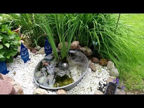 miniteich zinkwanne terrassenteich teich bei tag teichnebler, Hause und Garten