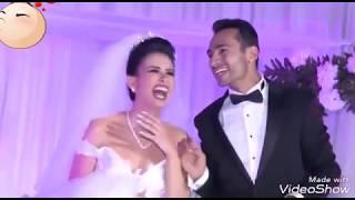 فرحه عريس وعروسه لما اخت العريس وامه غنوا في الفرح