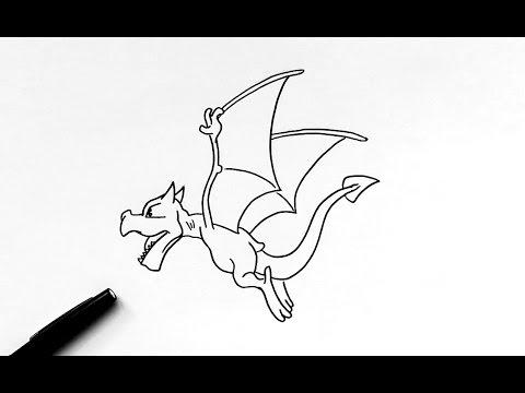Dessin ptera pok mon youtube - Ptera pokemon y ...