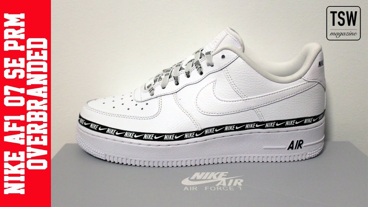 nike air force one overbranded