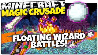Minecraft 1.9 | FLOATING MAGIC WIZARD BATTLES! | Magic Crusade (Minecraft 1.9 Custom Minigame)