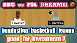 BBG vs FSL Dream11 | BUNDESLIGA BASKETBALL LEAGUE |