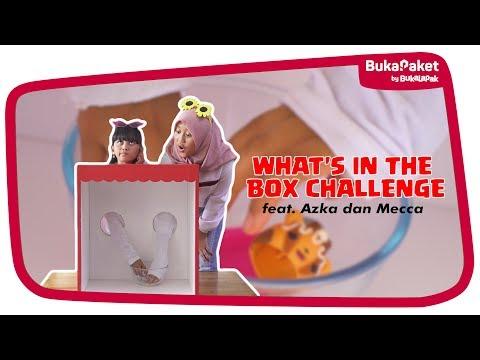 What's in the Box Challenge: Tebak Mainan Anak Jaman Sekarang feat. Azka Mecca   BukaPaket for Kids